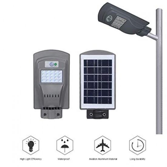20W Външна Соларна LED лампа  със сензор за двжение подходща за улична осветление