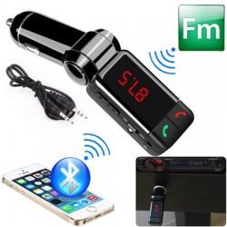 Блутут трансмитер за кола (MP3player FM предавател зарядно USB и Bluetooth) HF4