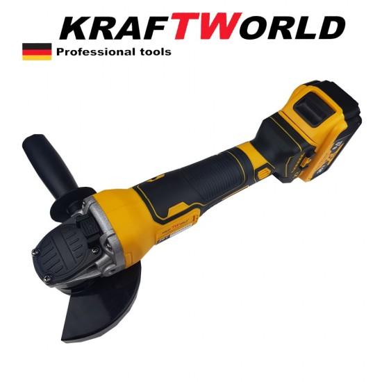 Акумулаторен ъглошлайф KraftWorld 36V 8,0 Ah + 2 батерии зарядно и куфар
